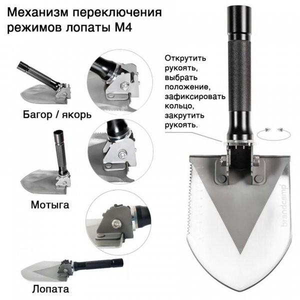 Многофункциональная лопата BRANDCAMP BC-M-IV в Ельце